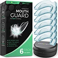 HONEYBULL Mouth Guard for Grinding Teeth [6 Pack] 1 Size for Light Grinding | Comfortable Custom Mold for Clenching at Night, Bruxism, Whitening Tray & Guard