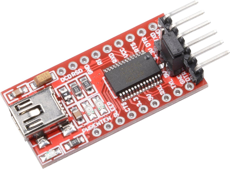 2x FTDI Adapter FT232RL USB zu TTL Serial 3,3V 5V Konverter Modul für Arduino