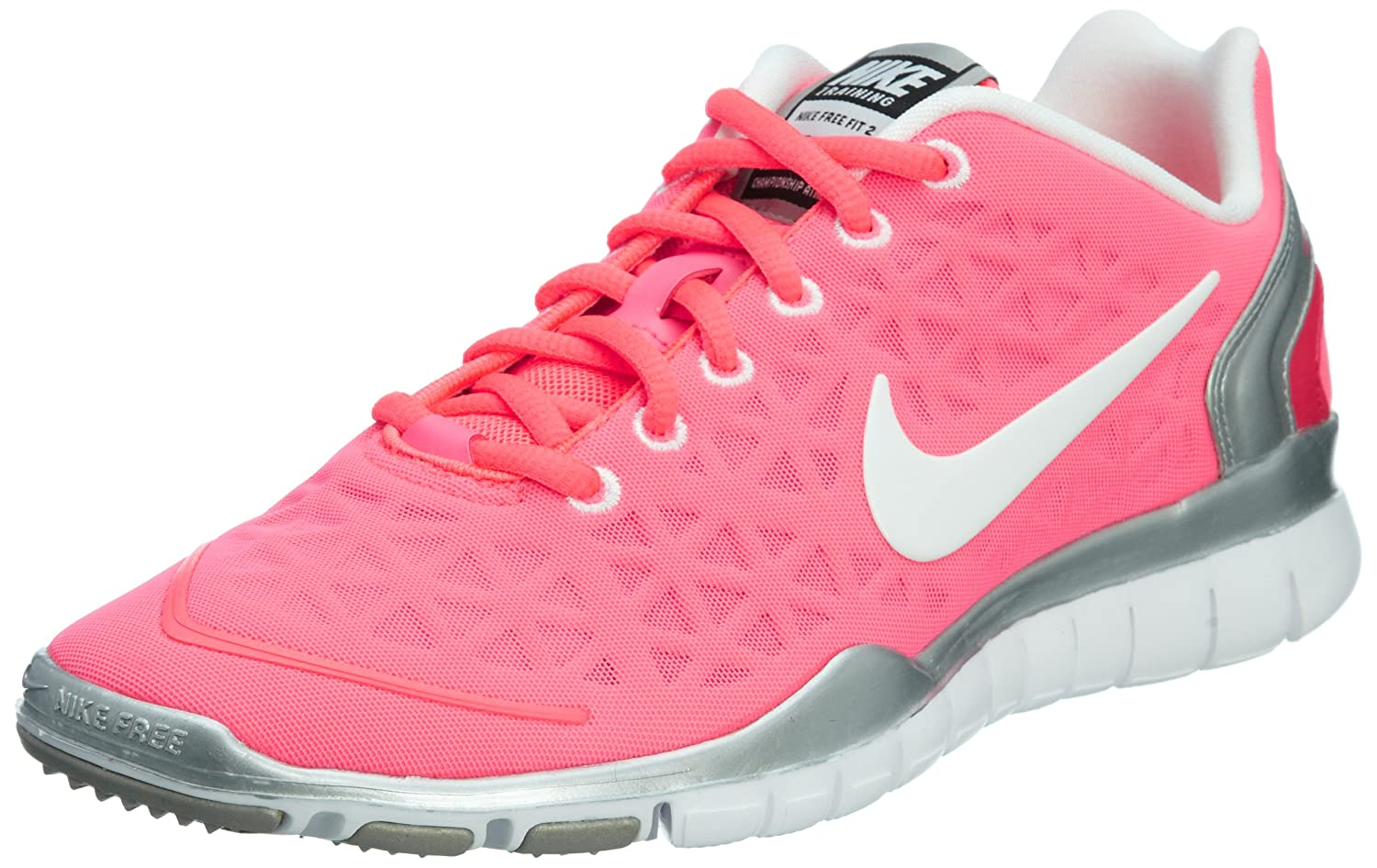 info for 90684 316ec Amazon.com   NIKE Wmns Free TR Fit 2 Hot Punch Silver Womens Training Shoes  487789-601  US size 9.5    Shoes