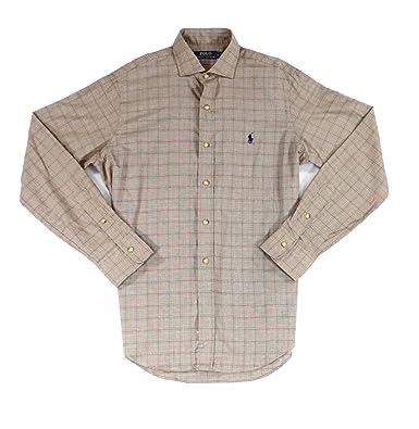 a7c0141df702 Image Unavailable. Image not available for. Color  Polo Ralph Lauren Men s Slim  Fit Plaid Cotton Twill Long Sleeve Shirt ...