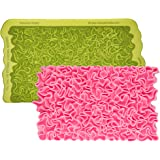 Marvelous Molds Scrunch Ruffle Simpress Silicone Mold | Cake Decorating with Fondant Gum Paste Icing
