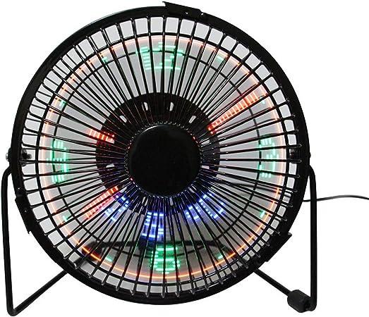 Contador LED programable Mensajes DIY ventilador de refrigeración, Desk USB LED reloj Ventilador (mrf-002), negro, 6inch: Amazon.es: Hogar