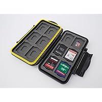 Ares Foto® MC-SDMSD24 Speicherkarten Schutzbox / Schutzhülle / Memory Card Case / Card Safe / für 12 SD und 12 Micro SD Karten - Version 2018
