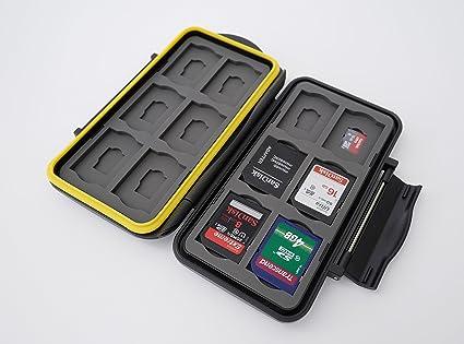 Ares Foto® Caja de protección • Almacenamiento de tarjeta de memoria para 12 SD y