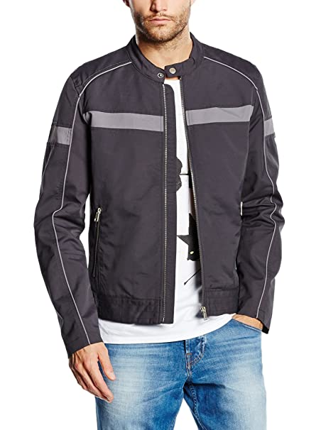 Guess Chaqueta MC Queen Biker Jacket Gris M: Amazon.es: Ropa ...