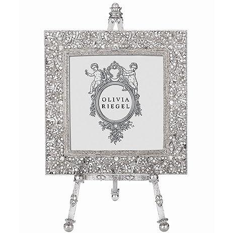 WINDSOR Austrian Crystal 4x4 W/Easel Frame By Olivia Riegel   4x4