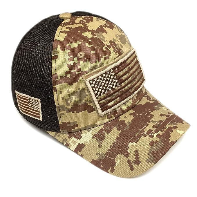 0508b2de Pitbull Military Army Desert Khaki Brown Camo Vintage Cotton Cap USA ...