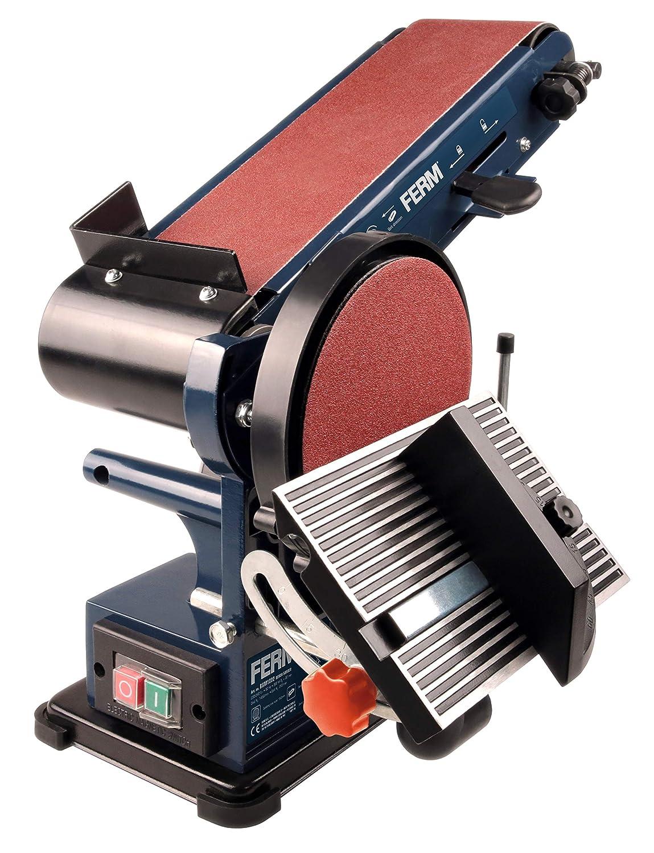 Ferm Bench Sander – 350W – 150mm - Incl. 2 sanding belts (P80 & P120) and 2 sanding discs (P80 & P120) BGM1022