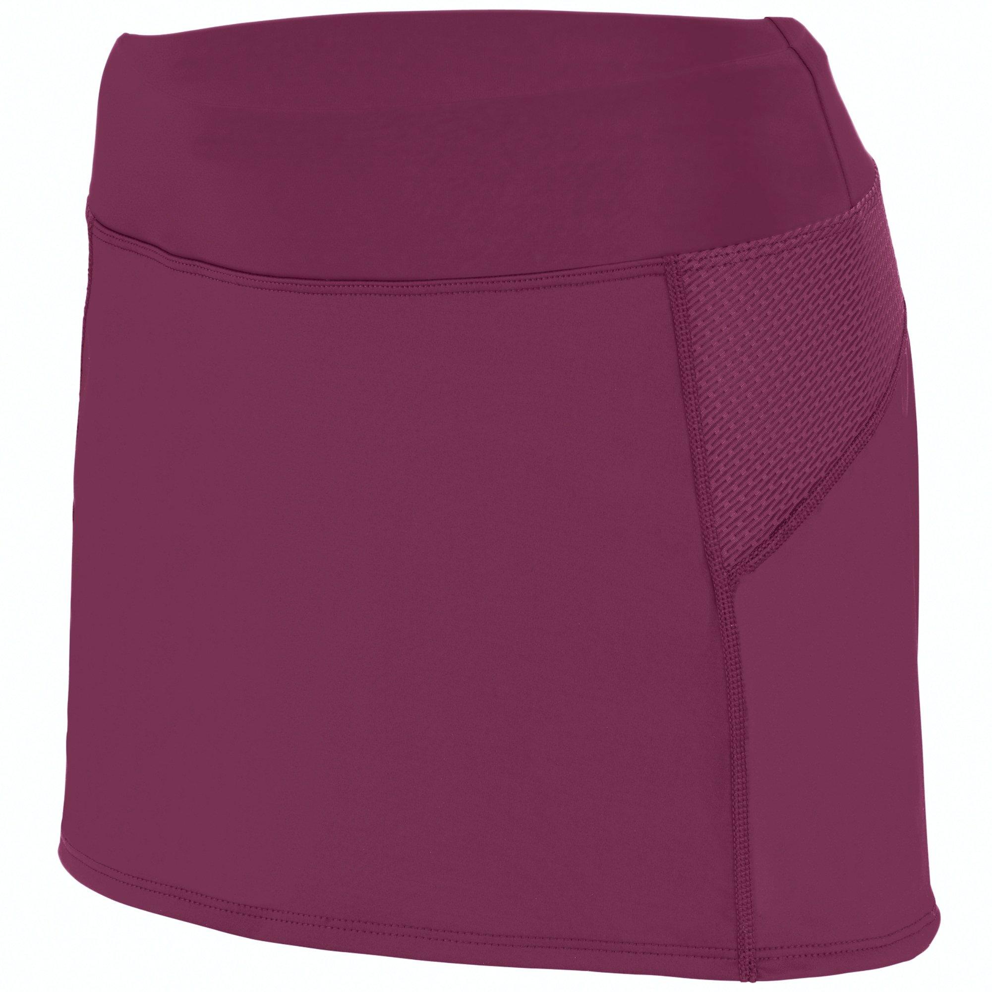 Augusta Sportswear Girls Femfit Skort S Maroon/Graphite by Augusta Sportswear