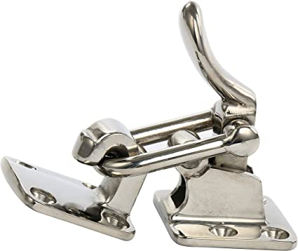 Heavy Duty Lockable Hasp//Hold Down//Hatch Clamp Anti-Rattle Latch for Door