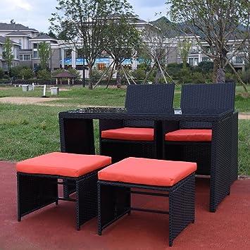 Al aire libre Patio muebles de jardín ratán mimbre sofá ...