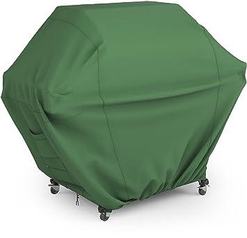 BBQ Funda para Barbacoas (147x61x123 cm, Verde). Funda impermeable y resistente a