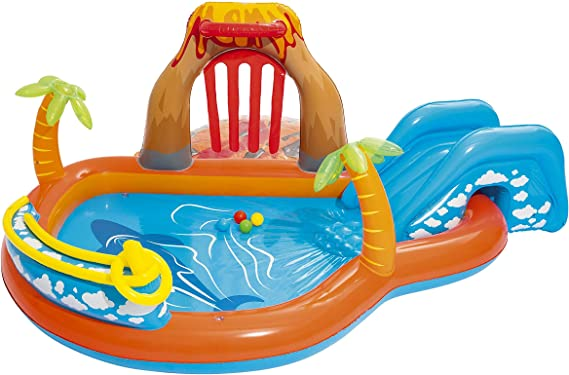 Bestway 53069 Lava Lagoon - Piscina Hinchable Infantil, 265x265x104 cm: Amazon.es: Juguetes y juegos