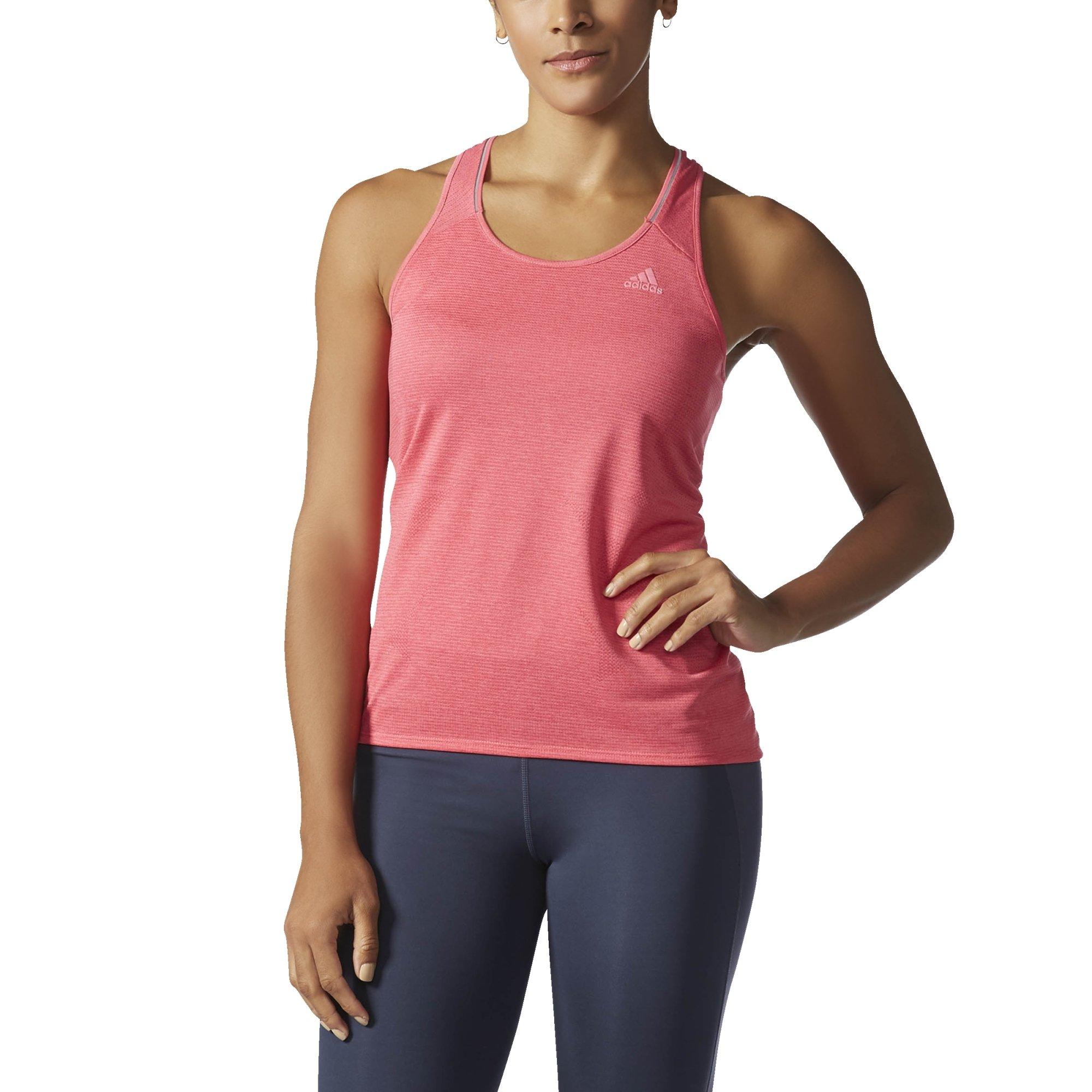 adidas Women's Running Supernova Tank Top, Super Pink, Small by adidas