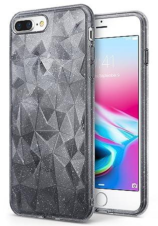 162cdd6556f Ringke Funda iPhone 7 Plus/iPhone 8 Plus [Air Prism Glitter] 3D Ligero  Bling Elegante patrón de protección TPU Funda para Apple iPhone 7 Plus:  Amazon.es: ...