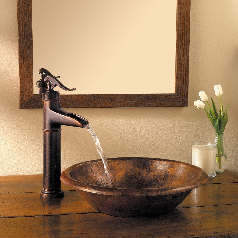 Pfister LG40YP0K Ashfield Single Control Vessel Bathroom Faucet in Brushed Nickel Water-Efficient Model