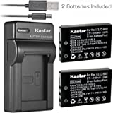 Kastar Battery (X2) & Slim USB Charger for Kodak KLIC-5001 and Easyshare P712 P850 P880 Z730 Z760 Z7590 DX6490 DX7440…