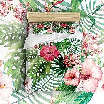 Libaoge 4 Pièces Ensemble De Draps De Lit Tropical Orchidée