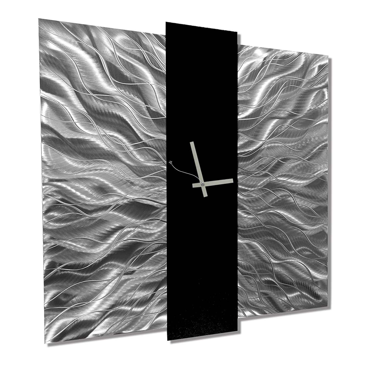 Amazon jon allen metal art large 24 inch decorative wall amazon jon allen metal art large 24 inch decorative wall clock contemporary modern metal wall art elegant mechanism home kitchen amipublicfo Image collections