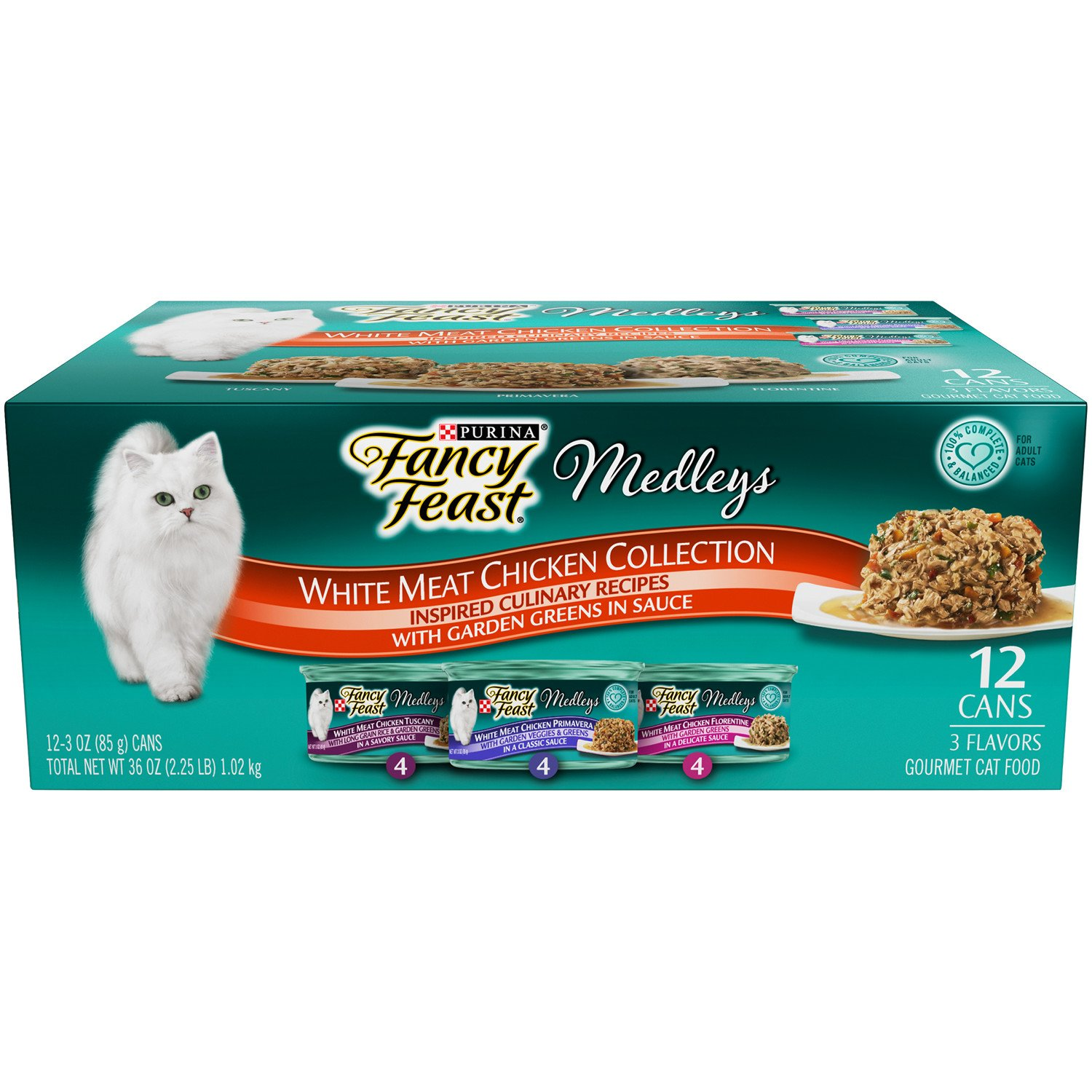 Purina Fancy Feast Medleys Tuscany Primavera and Florentine Collections Gourmet