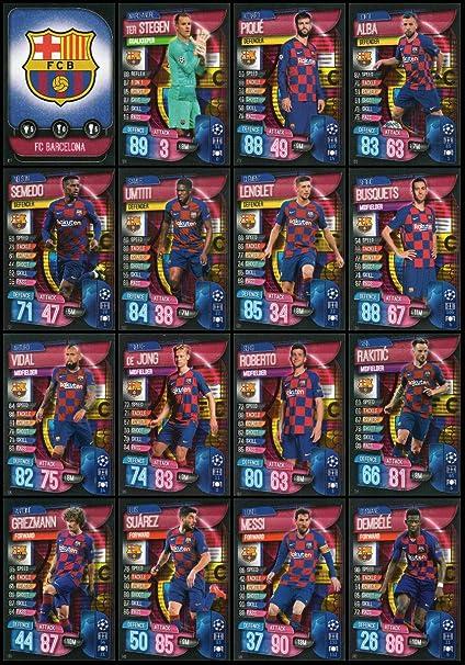 Amazon.com : MATCH ATTAX 19/20 FC Barcelona Full 16 Card ...