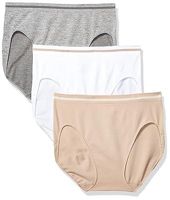 16fc4ad1905c Ellen Tracy Womens 51220P3 3 Pack Seamless Tipping Hi Cut Panty Underwear -  Multi