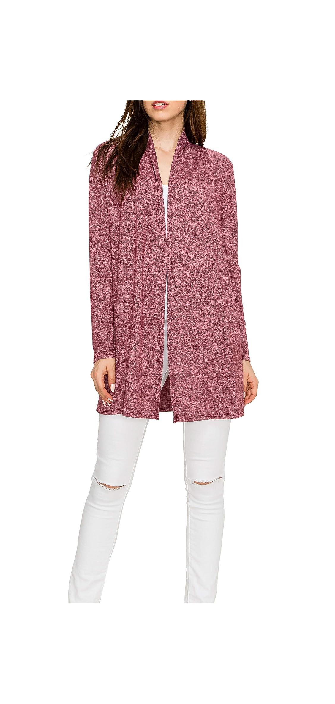Long Lightweight Wrap Cardigans Sweaters Open Front