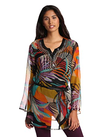 Long Sleeve Chiffon Tunics