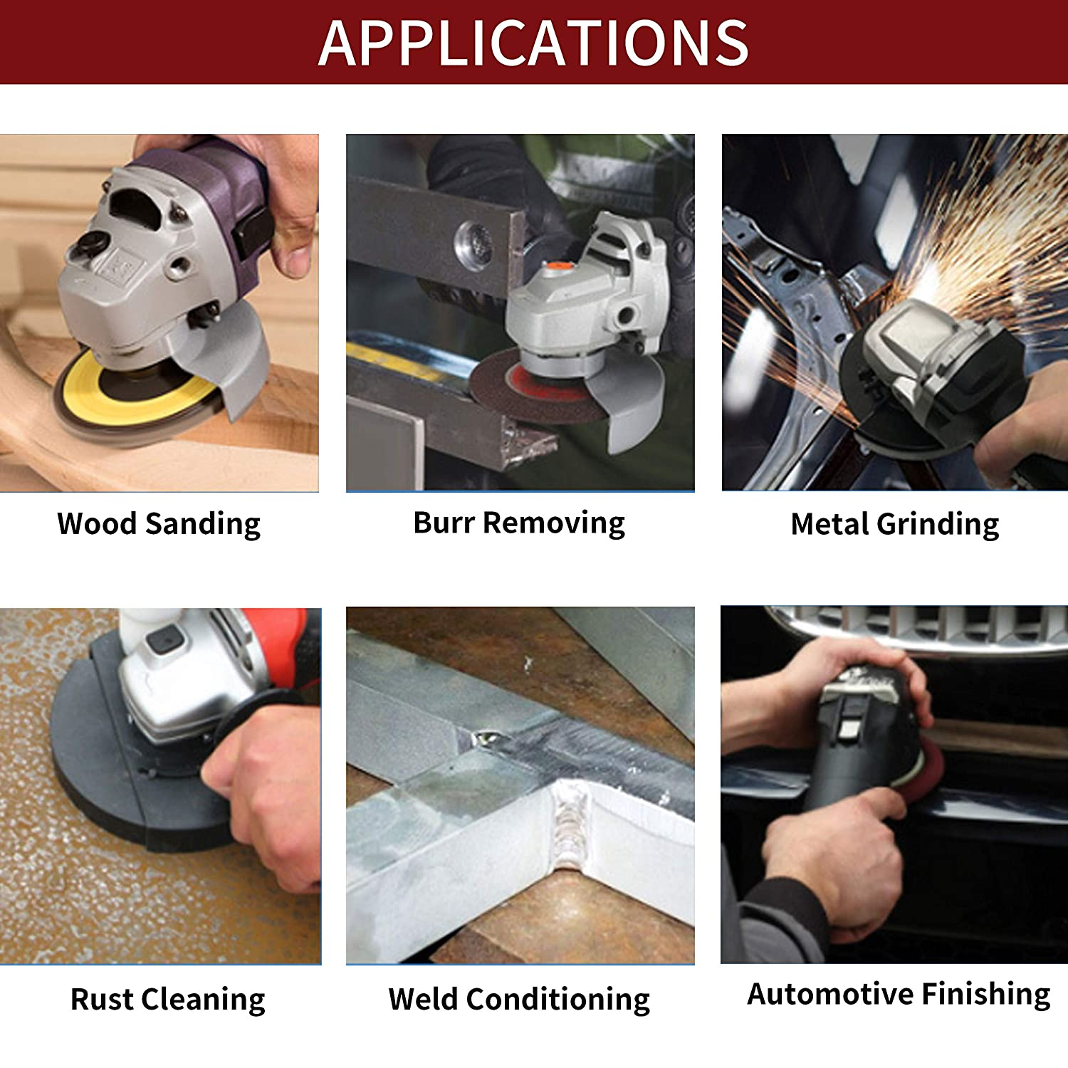 Anncus 10pcs 2inch Stripping Discs Pads Surface Prep Sanding Ro-loc Wheels Abrasives Stripping Discs Pads
