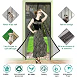 "[Updated Version] Magnetic Screen Door, TeeBeg Mosquito-Proof Screen Door, 36""x83"", Super Reinforced Mesh Powerful magnetics perfect seal, Magnets Door Close Automatically And Hands-Free"