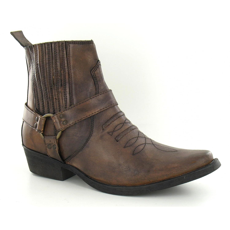Maverick Herren Cowboy Stiefel Stiefel Cowboy A3003 Hellbraun 3cc14e