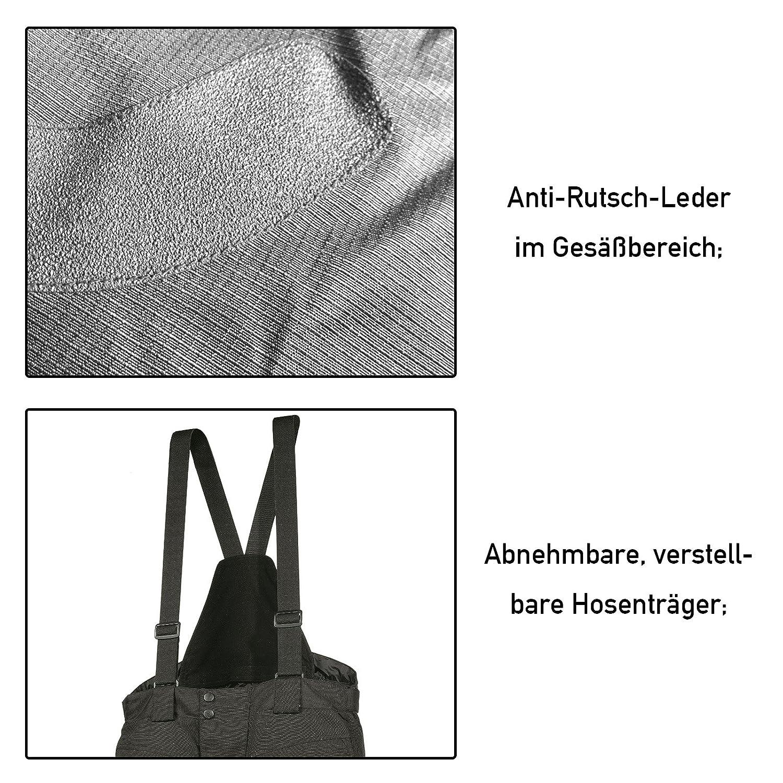 Motorradhose Standard und Kurzgr/ö/ßen -Spider- Herren Sommer Winter Motorrad Textilhose mit Protektoren und Hosentr/äger L Kurzgr/ö/ße schwarz