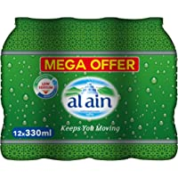 Al Ain Bottled Drinking Water Mega offer Pack - 330 ml (Pack of 12)