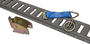 5 E-Track Black 4 with 4 Wood Beam Sockets 4 O Rings and 4 Tie Downs