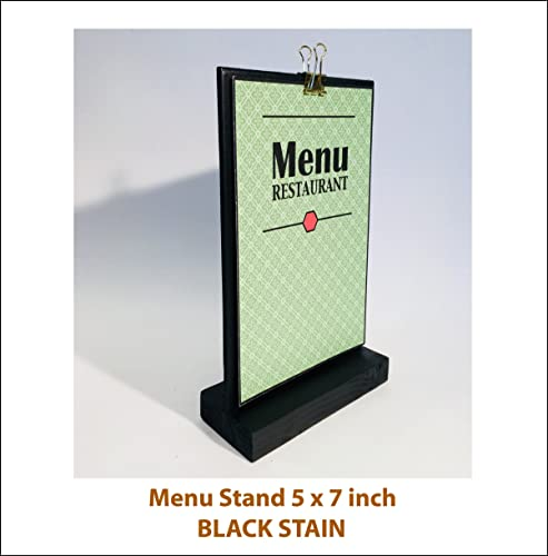 Amazoncom Menu Stand Tabletop Sign Holder Large Sign Holder - Restaurant table top sign holders