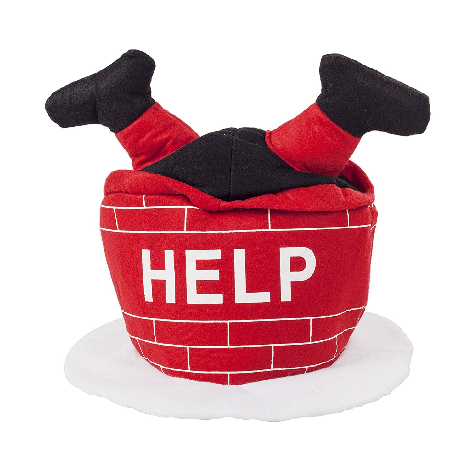 02aafdfdf11df Details about Funny Novelty Christmas  HELP Santa Stuck up the Chimney  Hat