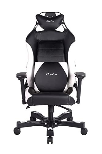 CLUTCH CHAIRZ Shift Series Alpha Black White World s Best Gaming Chair Racing Bucket Seat Gaming Chairs Computer Chair Esports Chair Executive Office Chair w Lumbar Support Pillows