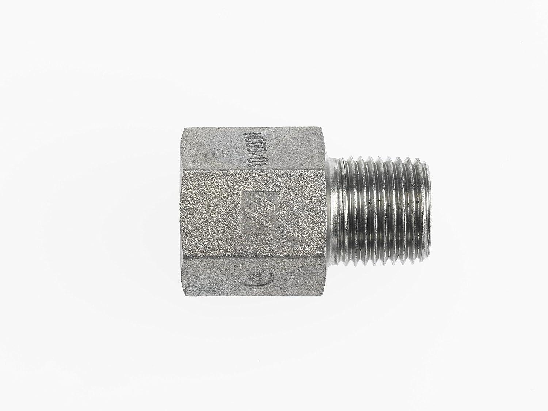 Brennan Industries 7040-06-06 Steel Straight Conversion Adapter Fitting 3//8-18 Female NPTF x 3//8-19 Male BSPT 3//8-18 Female NPTF x 3//8-19 Male BSPT Inc.