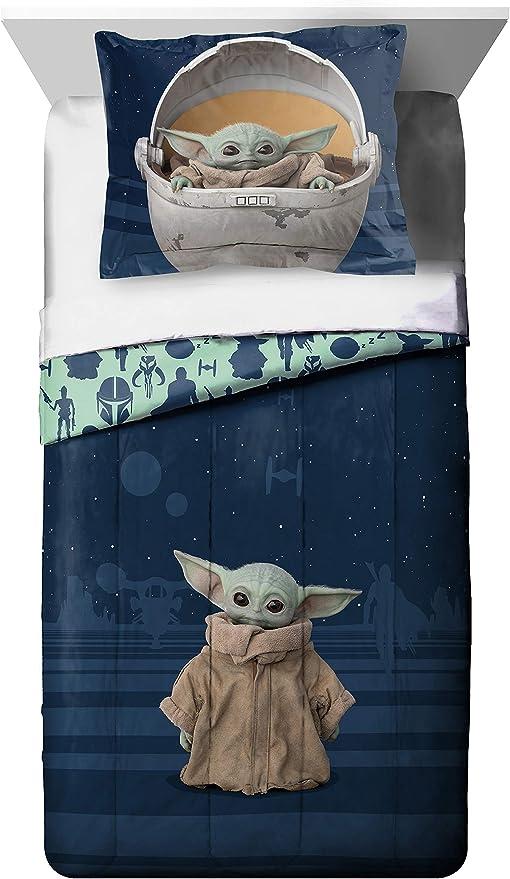 Star Wars Baby Yoda Comforter /& Sheet  Set  5 Piece Twin Kids Teens Mandalorian