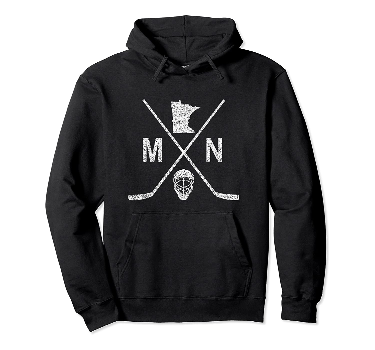 State of MN Hockey Sweatshirt | Vintage Look Hoodie