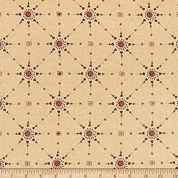 Amazoncom Henry Glass Itty Bitty Lattice Fabric Cream Fabric By
