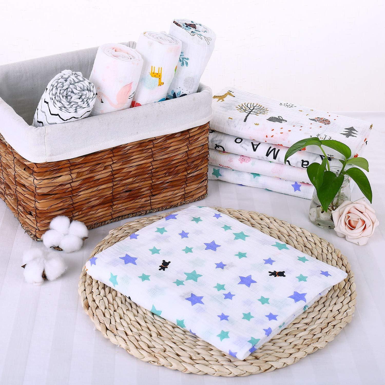 Little Sweetz ** Swaddling Cloth for Newborns ** XL 120 x 120 cm ** 100/% Cotton ** Baby Muslin Swaddle Cloth 120 x 120 cm Burp Cloths Soft /& Cuddly ** Many Colours