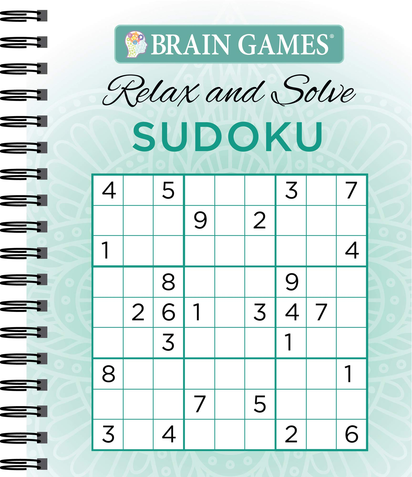Amazon com: Brain Games - Relax and Solve: Sudoku (Teal