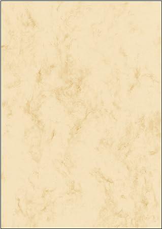 Sigel Dp372 Marmor Papier Beige A4 100 Blatt Motiv Beidseitig 90