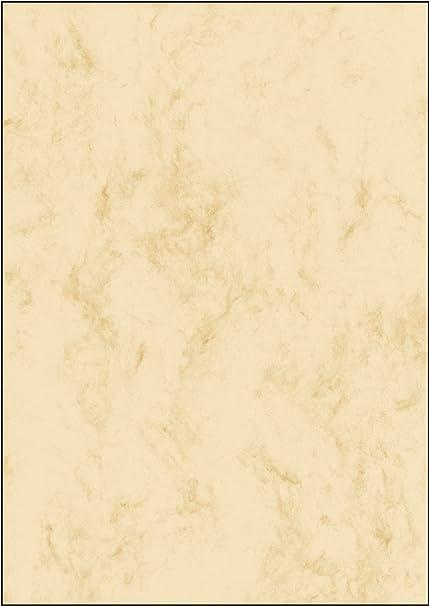 SIGEL DP372 Papel de cartas, 21 x 29,7 cm, 90g/m², mármol beige claro, 100 hojas