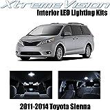 XtremeVision Toyota Sienna 2011-2014 (13 Pieces) Pure White Premium Interior LED Kit