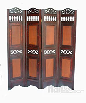 BWUK 4 PANEL VICTORIAN WOODEN SCREEN ROOM DIVIDER FOLDABLE PARAVENT