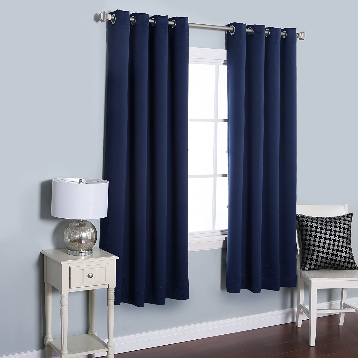Best Home Fashion Thermal Insulated Blackout Curtains - Stainless Steel Nickel Grommet Top