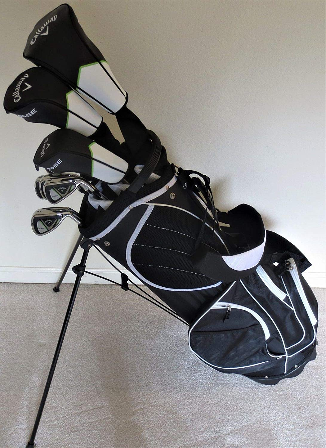 Callaway Mens Complete Golf Clubs Set With Stand Bag Driver 3 Wood Hybrid Irons Putter Right Handed Regular Flex