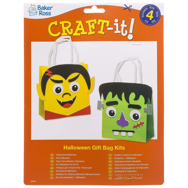 43cfc8a39 Baker Ross Kits de Bolsas (Pack de 4) para Manualidades y Fiestas  Infantiles de Halloween: Amazon.es: Juguetes y juegos